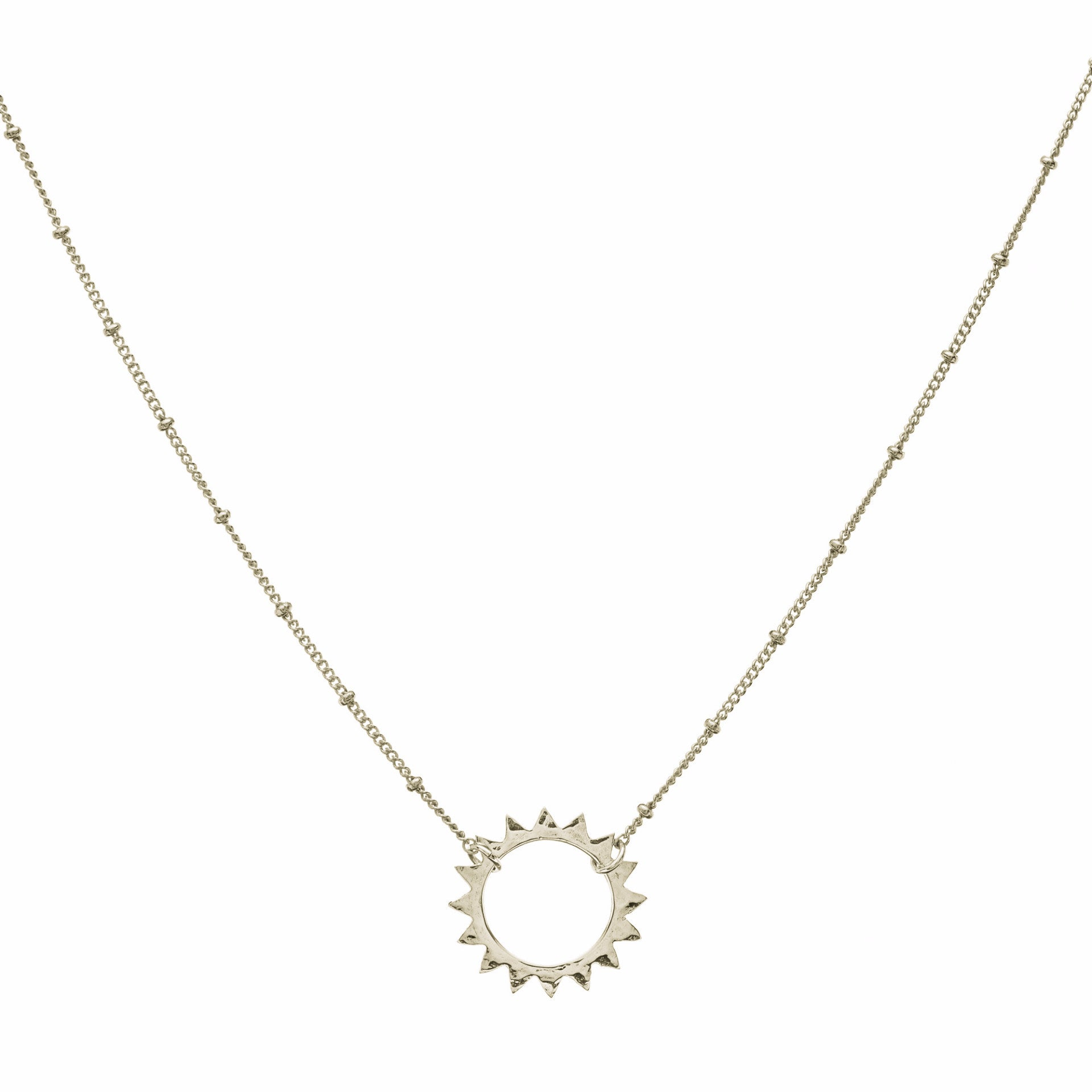 L Sun pendant & Sivan Chain Necklace