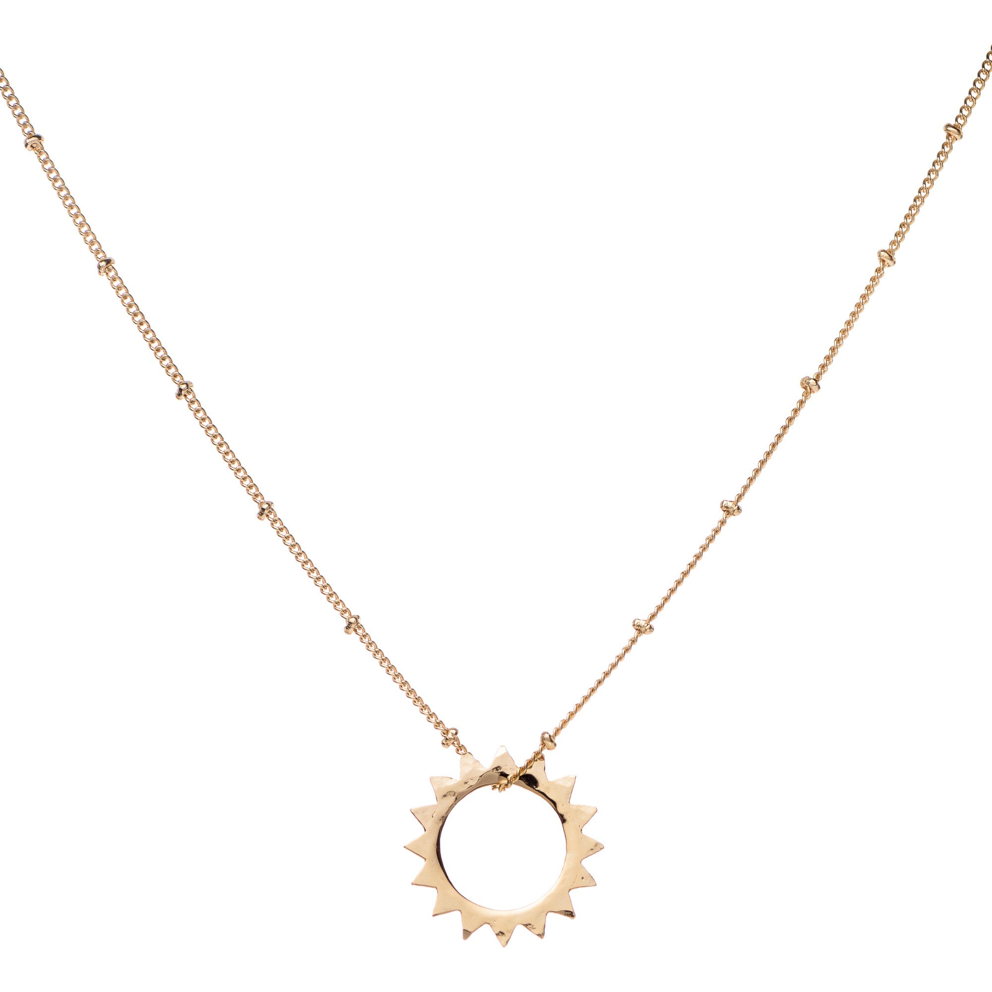 L Sun pendant & Helen Chain Necklace