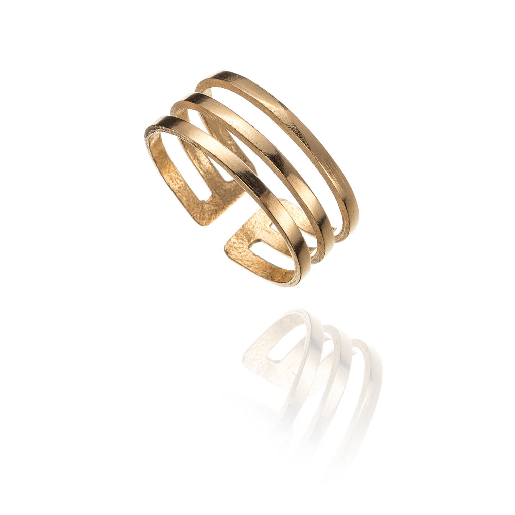 3 Stripes Adjustable Ring