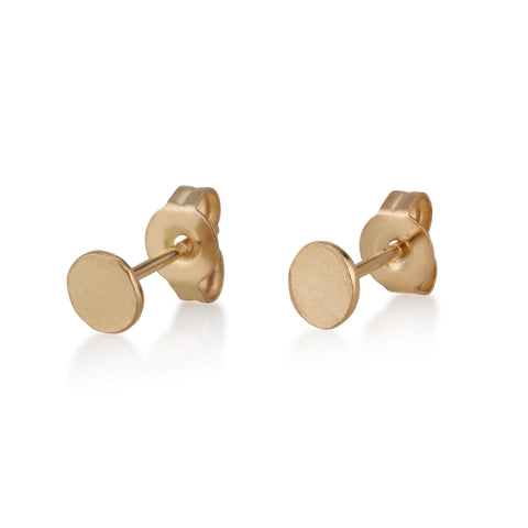 Flat Round S/M Stud Earrings