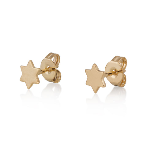 Full Star Of David Stud Earrings