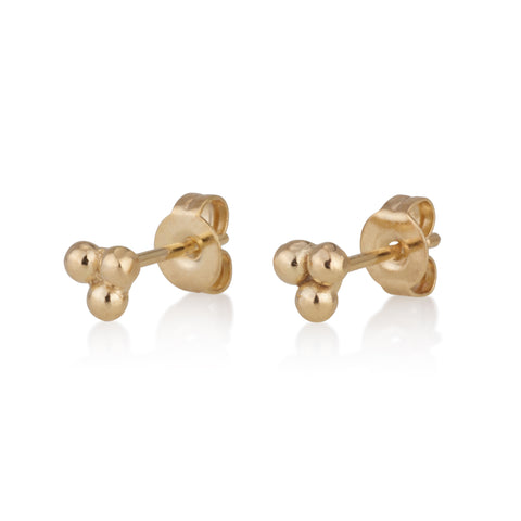 Triple Points Stud Earrings