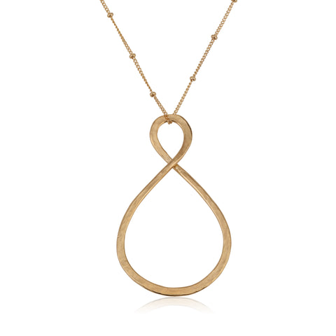 Uniqe asymmetrical large Infinity Necklace