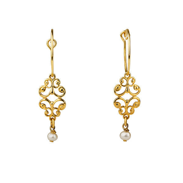 "Earrings - ""Favorite"" Pendant & Tiny Pearl Earrings"
