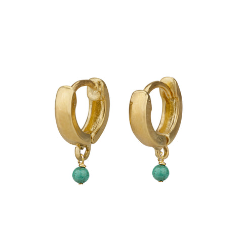 Earrings - Gipsy Earrings With Turquoise Stone