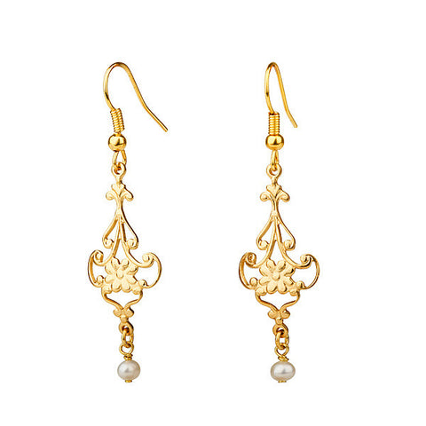 Earrings - Small Chandelier & Pearl Earrings