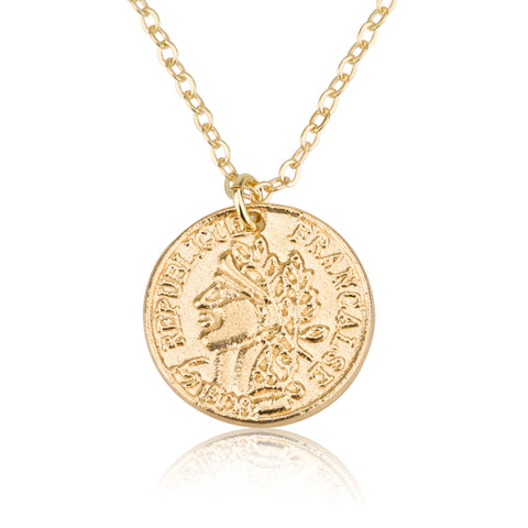 Necklaces - Ancient Coin Pendant & Helen Chain Necklace