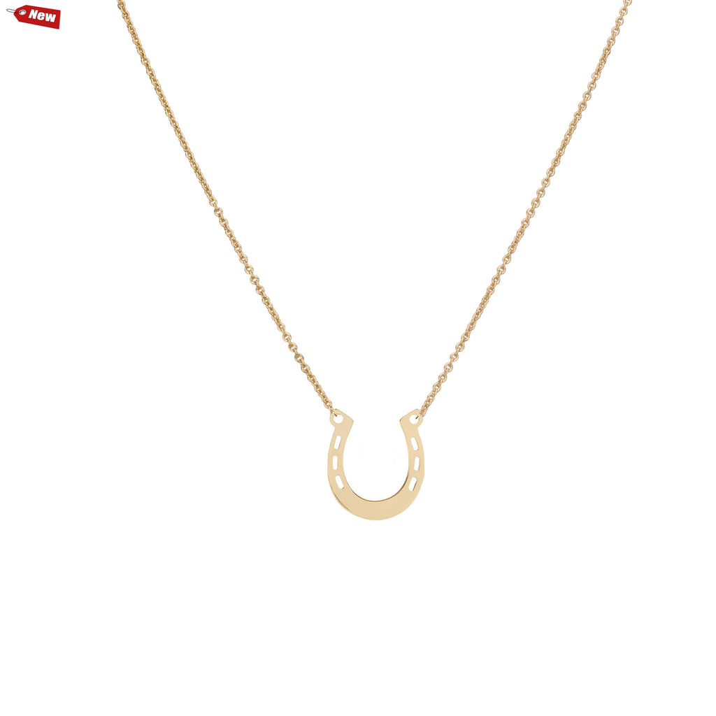 Necklaces - Big Lucky Horseshoe & Helen Chain Necklace