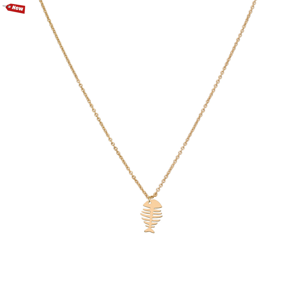Necklaces - Fishbone & Helen Chain Necklace