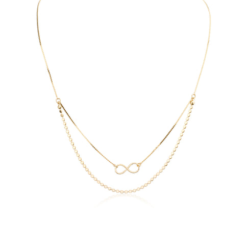 Necklaces - Half Double Liya&Helen Cahin & Small Infinity Pendant