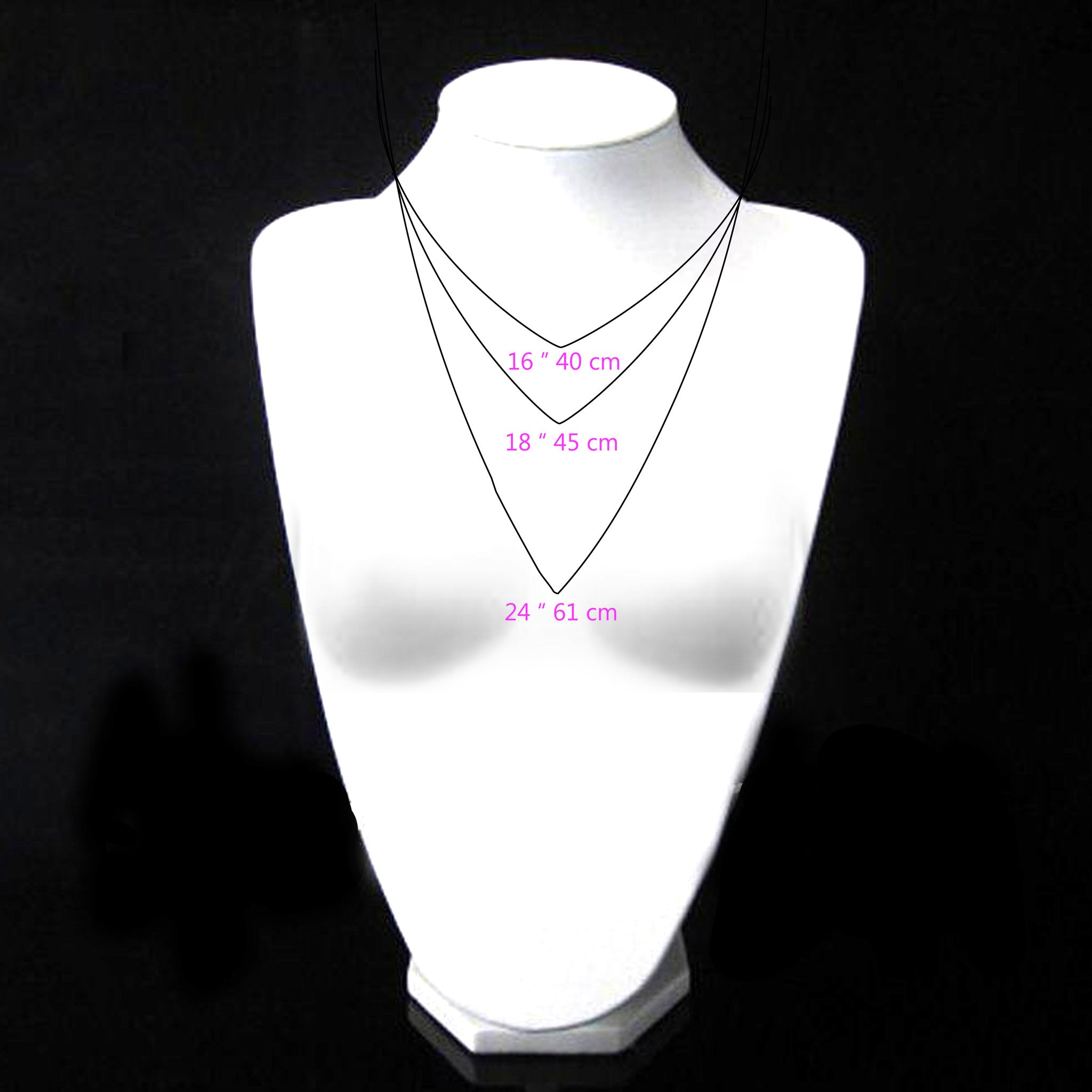 Necklaces - Half Triple A Symmetric Liya Chain & Small Chandelier Pendant