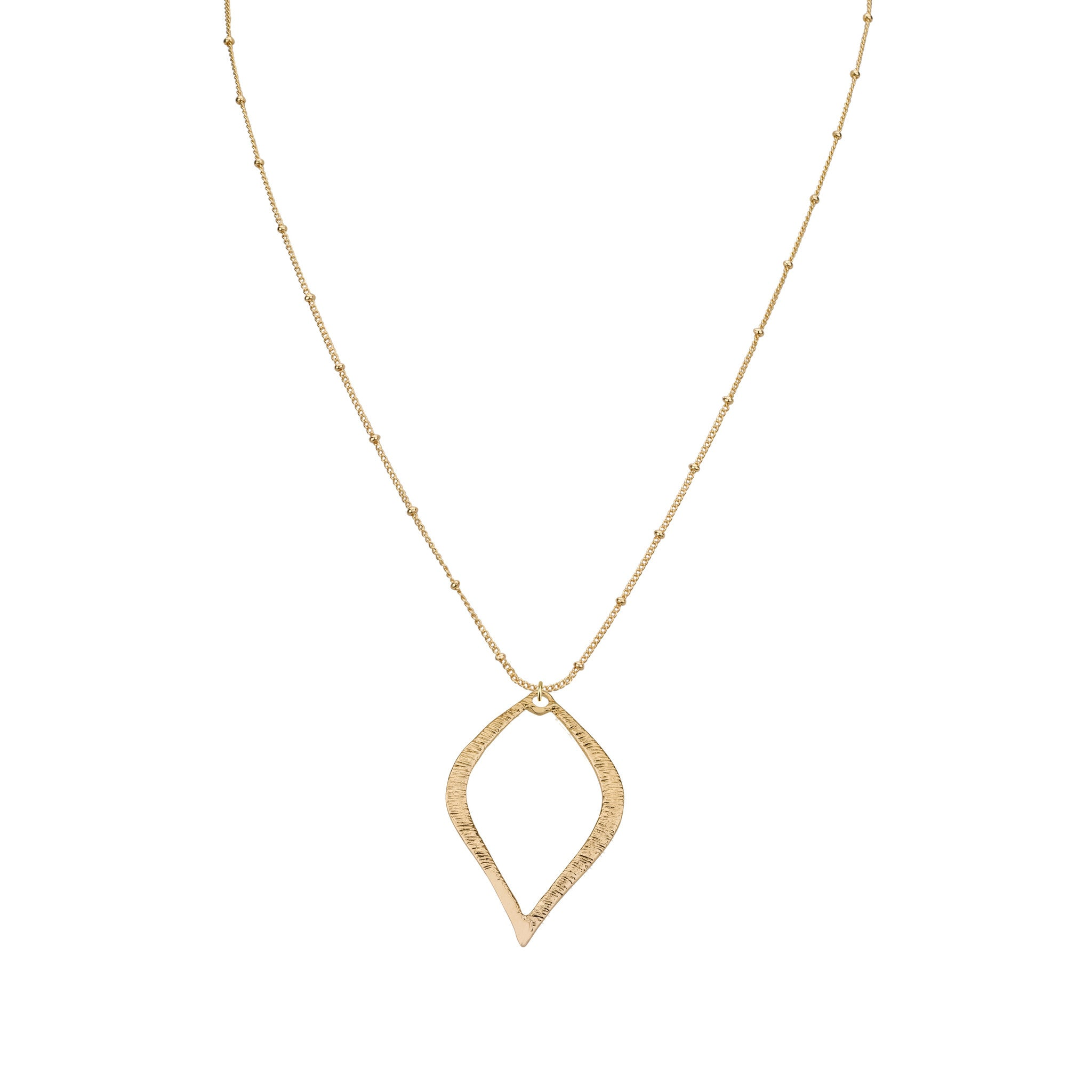 Necklaces - Outline Rain Drop & Sivan Chain Necklace