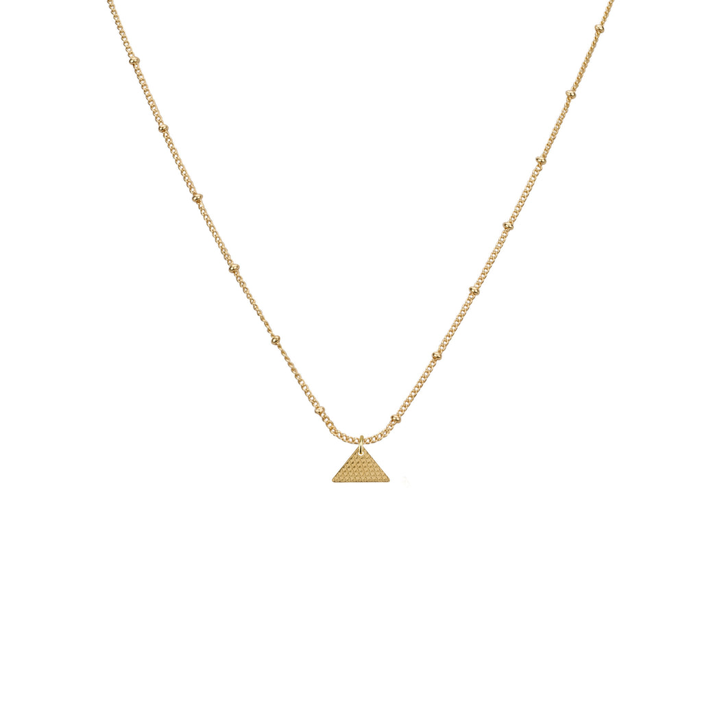 Necklaces - Pyramid Pendant & Sivan Chain Necklace