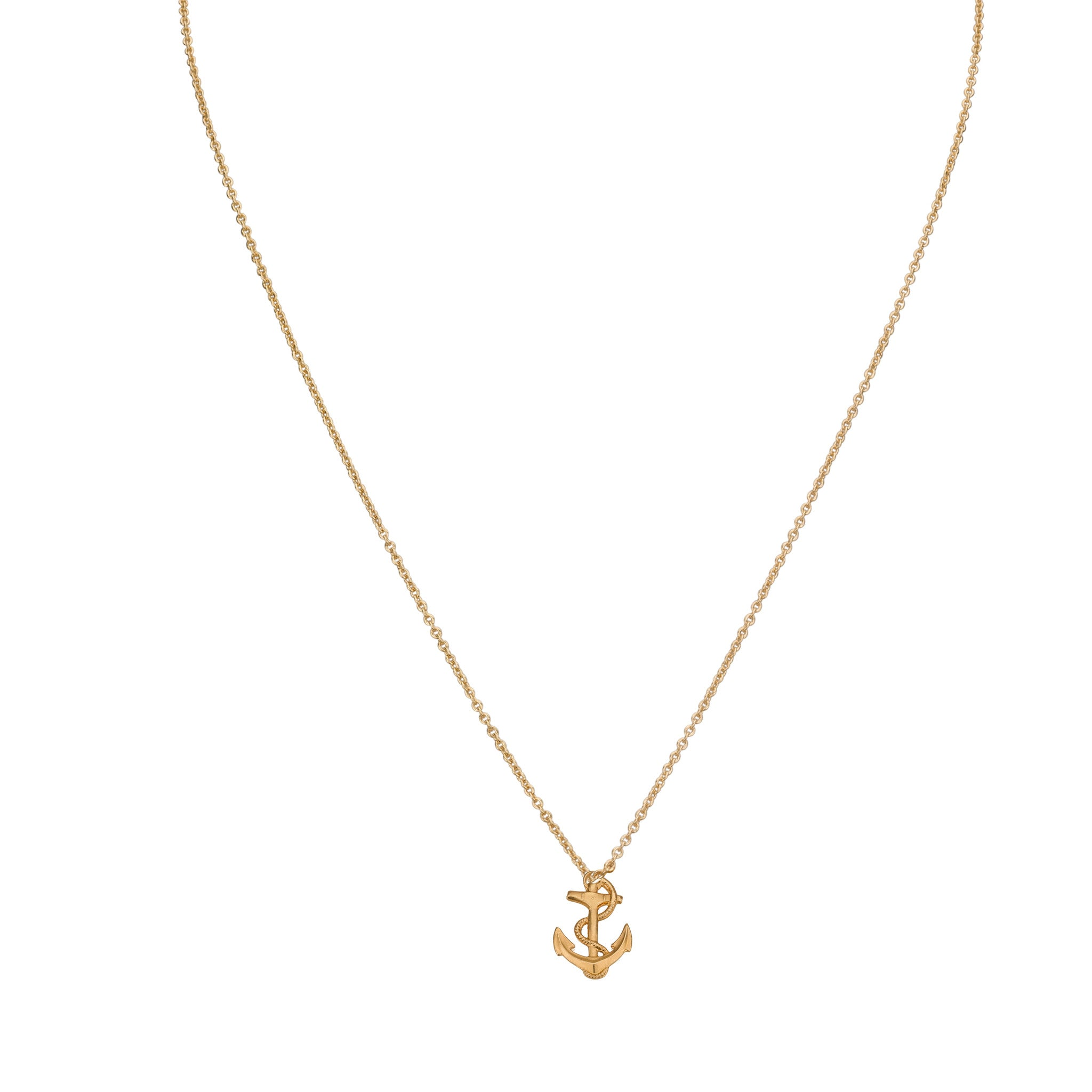 anchor free shipping link product necklace today chain gold plated long isla karat simone watches polished jewelry overstock