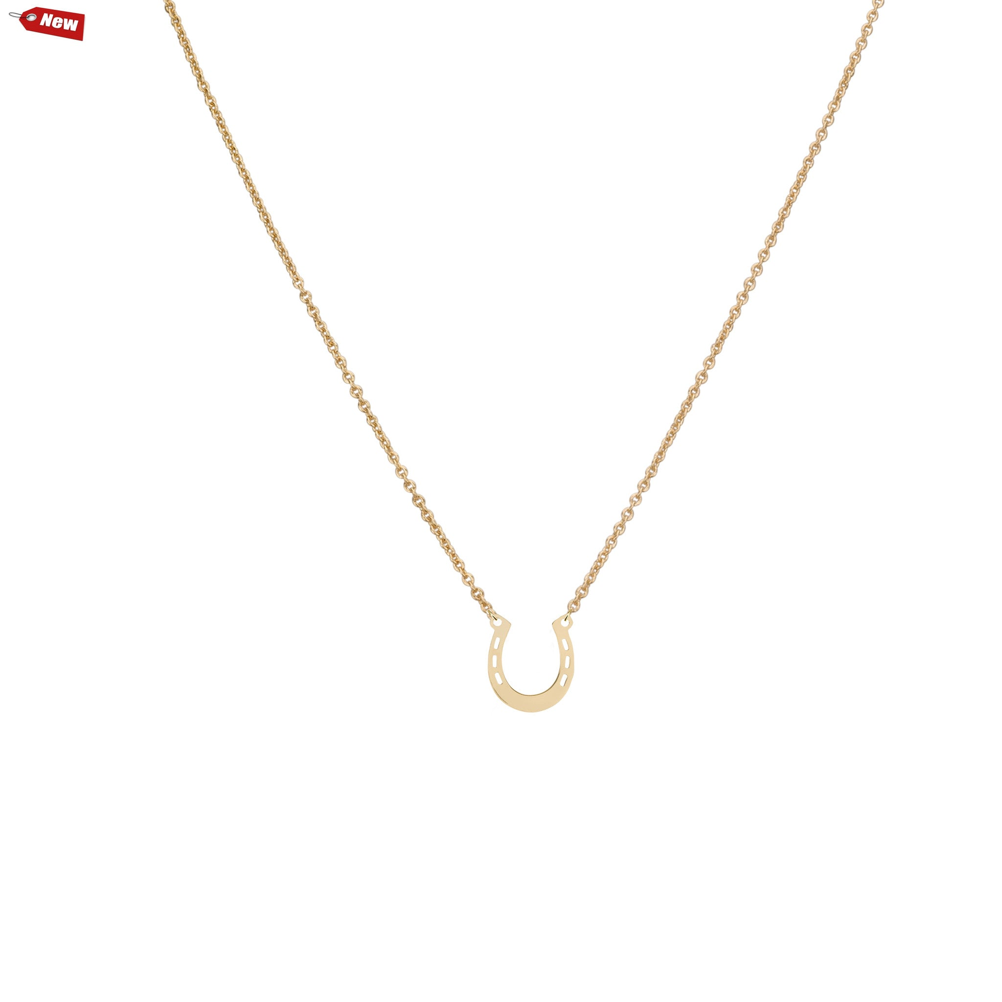 horseshoe gold products victorian chain necklace on pendant
