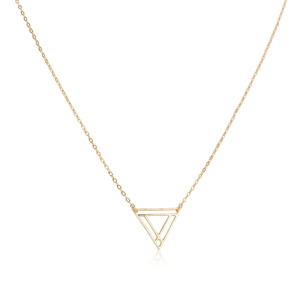Necklaces - Small Power Triangle & Helen Chain Necklace