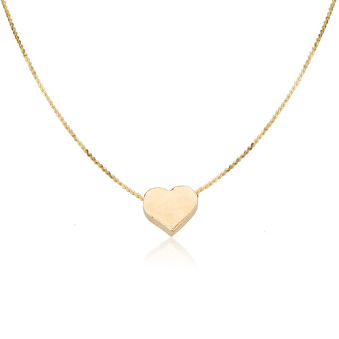 Necklaces - Small Thick Full Heart Pendant & Romi\Liya Chain Necklace