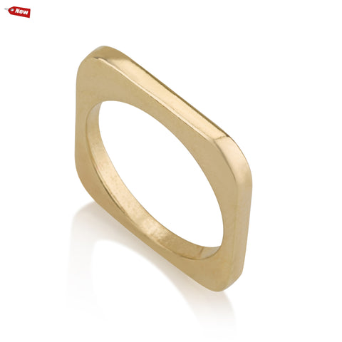 Rings - Geometric Rounded Square Ring
