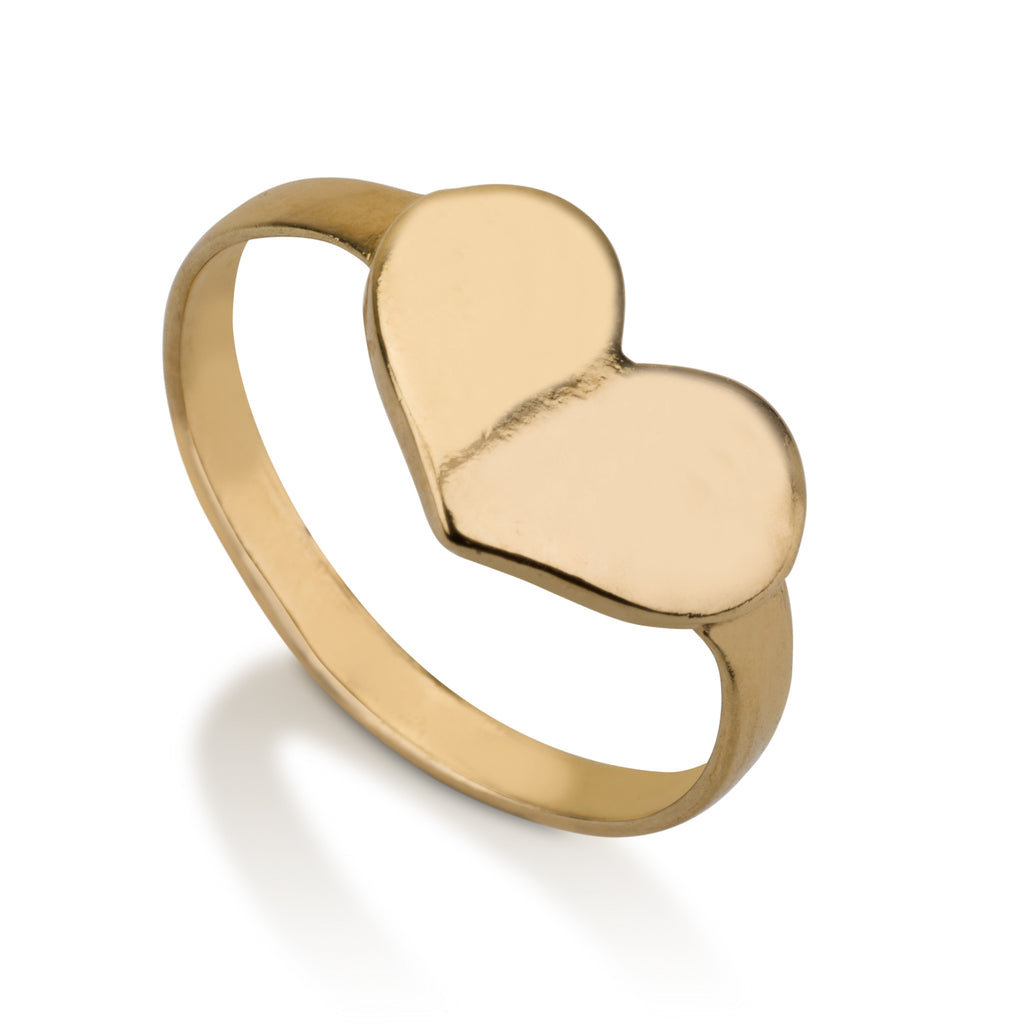 Rings - Thin Heart Signet Ring