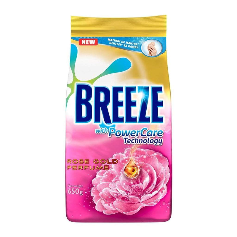 Breeze Laundry Breeze Powder Detergent Rose Gold Perfume Pouch 650g