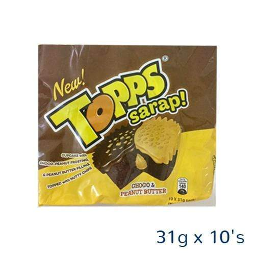 Cupp Keyk Biscuits Cupp Keyk Topps  Choco And Peanut Butter 31g x 10's