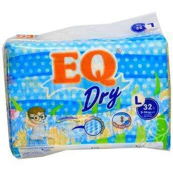 Eq Baby Care EQ Dry Diaper Econo Pack Large 32's