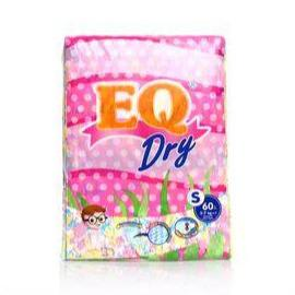 Eq Baby Care EQ Dry Diaper Jumbo Pack Small 60's