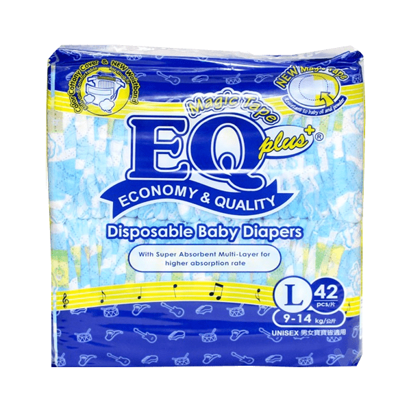 Eq Baby Care EQ Plus Diaper Jumbo Pack Large 42's