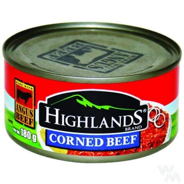 Highland Canned Meat Highlands Corned Beef 180g - DELISTED