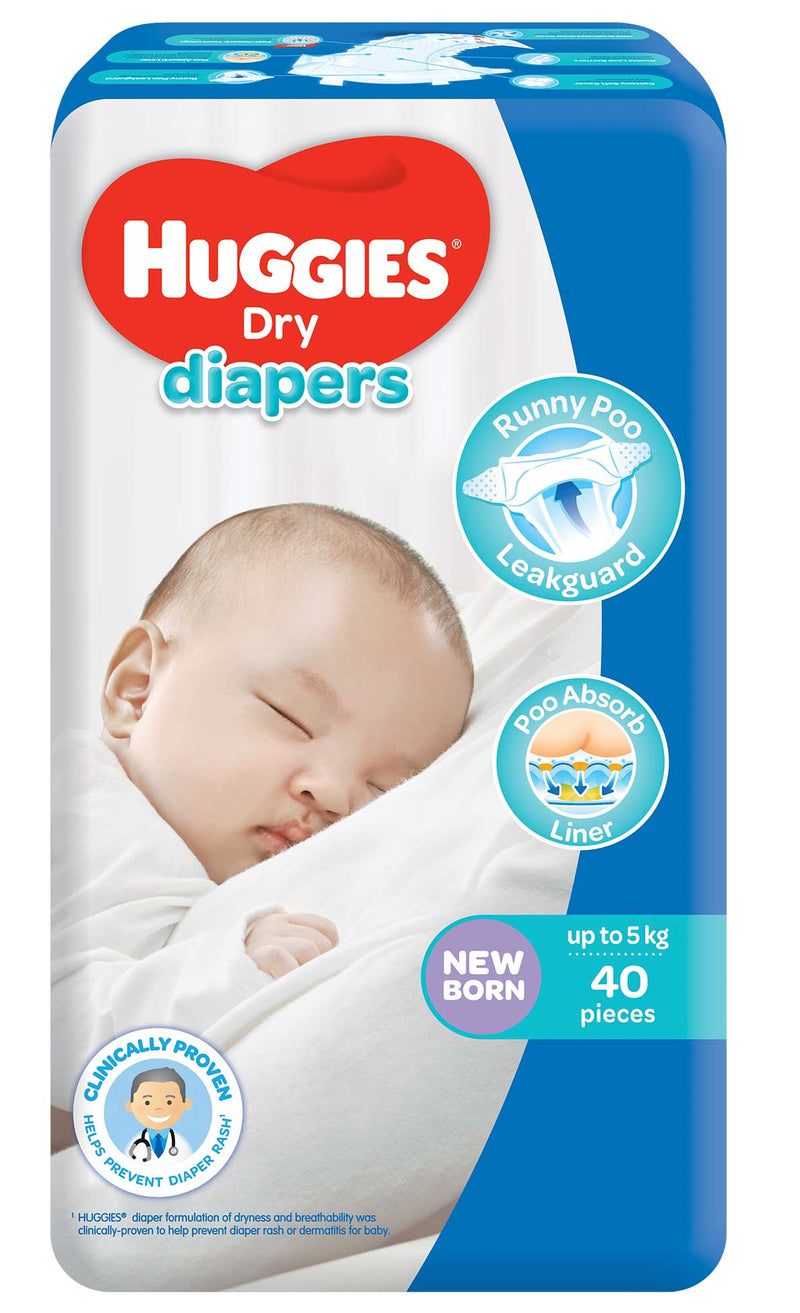 Huggies Baby Care Huggies Dry Diaper Economy Newborn 40's