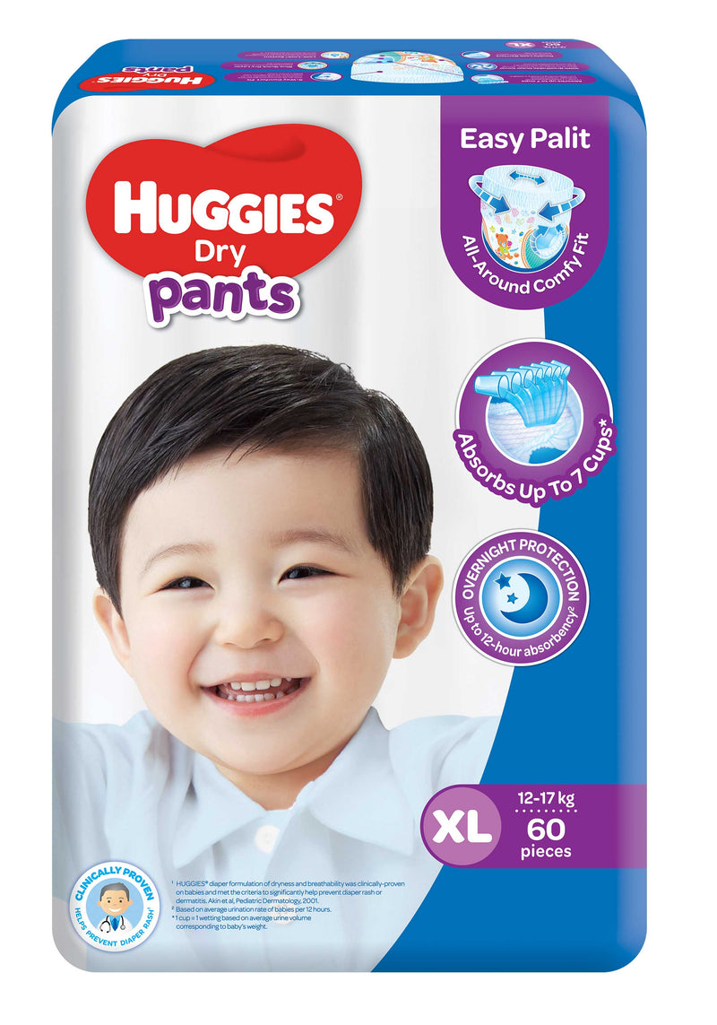 Huggies Baby Care Huggies Dry Pants Diaper XL 60's