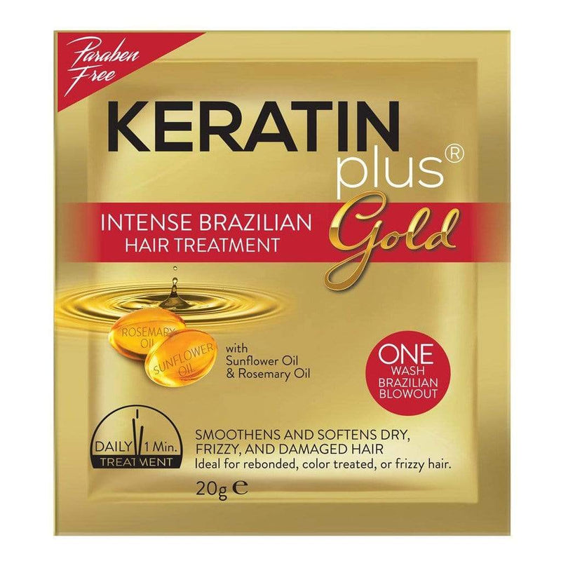 Keratin Plus Hair Care Keratin Plus Gold Intense Brazilian Hair Treatment 20g