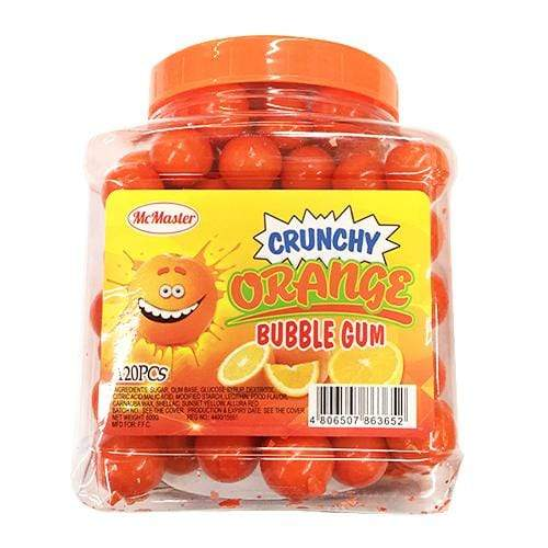 Master Candies Master Crunchy Orange Bubble Gum 120's