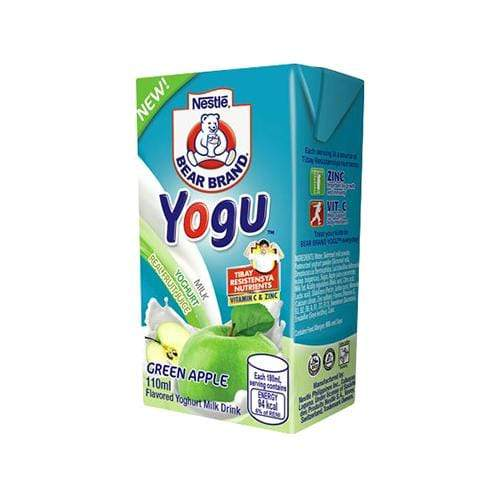 Nestle Milk Nestle Bear Brand Yogu Green Apple 110ml