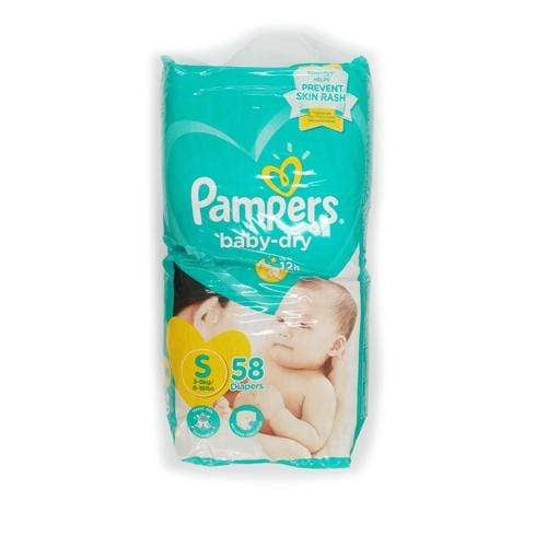Pampers Baby Care Pampers Diaper Baby Dry Small 58's