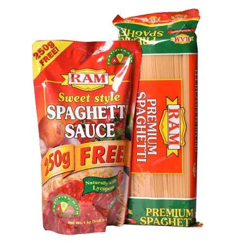 Ram Pasta Ram Bundle Pack Spaghetti Pasta 1kg + Spaghetti Sauce Sweet 1kg With Foodkeeper