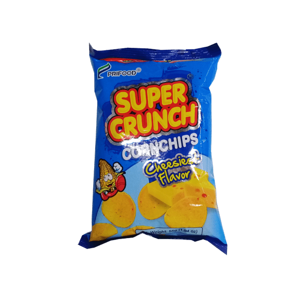 Super Crunch Snacks Super Crunch Corn Chips  Cheesiest Flavor 55g