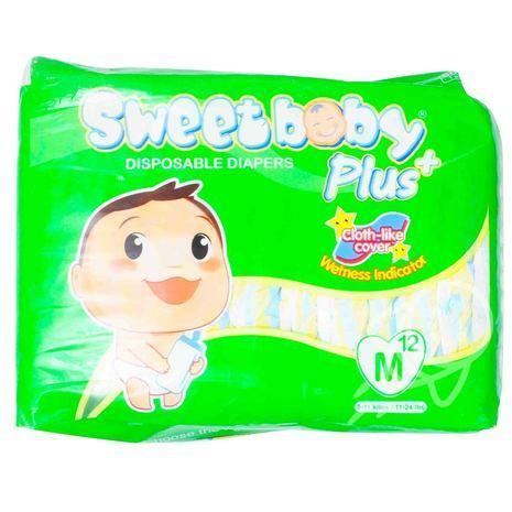 Sweet Baby Baby Care Sweet Baby Diapers Medium 12's