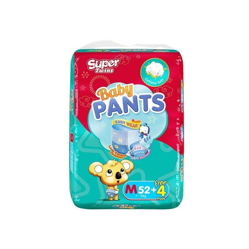 Twins Baby Care Super Twins Diaper Pants Jumbo Pack Medium 52 + 4