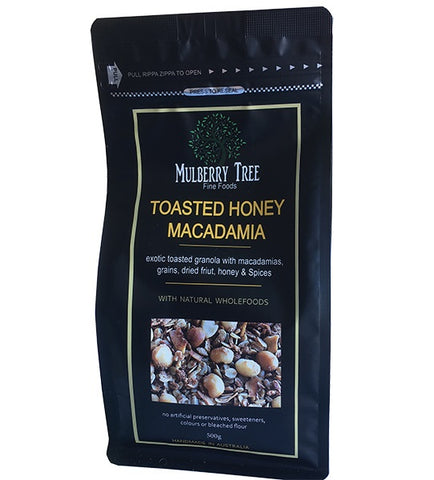 Mulberry Tree Granola<br>Honey & Macadamia - 500g
