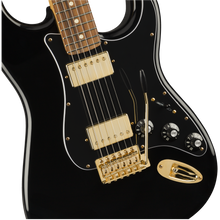 Load image into Gallery viewer, Fender 014-7901-506 Blacktop Strat HH Electric Guitar, Black and Gold