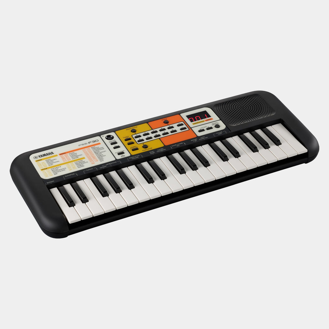 Yamaha PSSF30 Black & Orange Entry-Level Mini-Key Keyboard