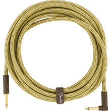 Load image into Gallery viewer, Fender 099-0820-082 Deluxe 18.6' Angled Instrument Cable - Tweed