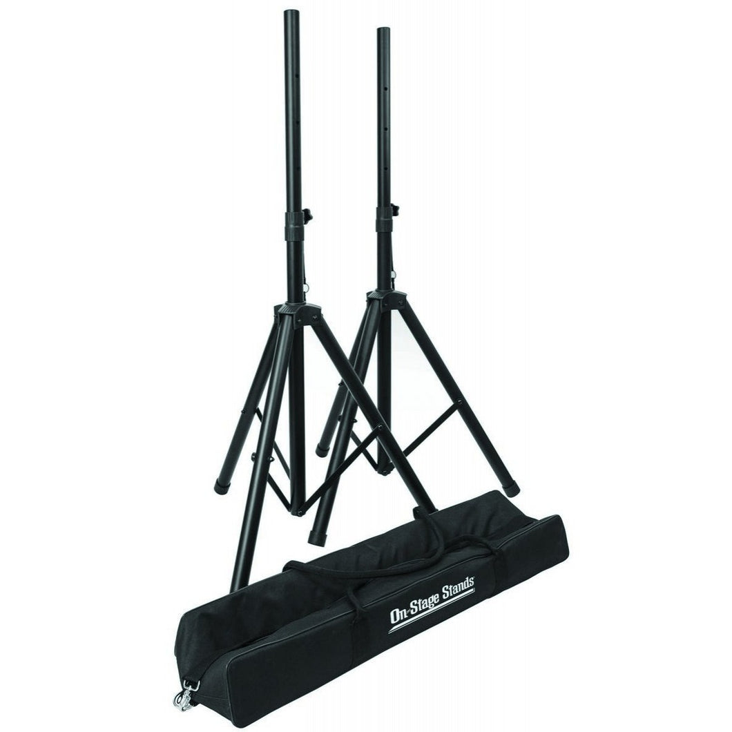 On Stage Stands SSP7750 Compact Speaker Stand Pack 2 Stands with Bag
