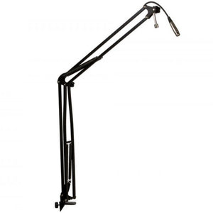 On-Stage MBS5000 Articulating Studio Boom Arm with Built in 10ft XLR Cable - Desktop Studio Boom