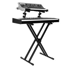 Load image into Gallery viewer, On-Stage KS7292 Double-X Keyboard Stand with 2nd Tier