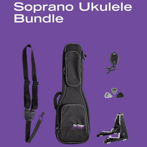 On Stage Stands UPK1000 Soprano Ukulele Accessories Bundle