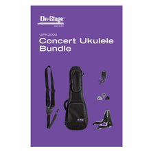 Load image into Gallery viewer, On Stage Stands UPK2000 Concert Ukulele Accessories Bundle