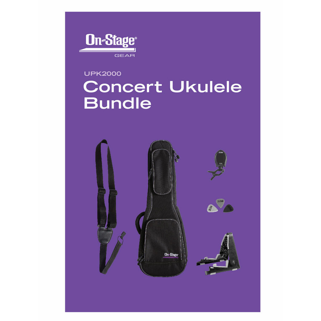 On Stage Stands UPK2000 Concert Ukulele Accessories Bundle