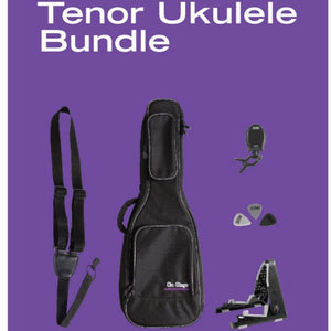 On Stage Stands UPK3000 Tenor Ukulele Accessories Bundle